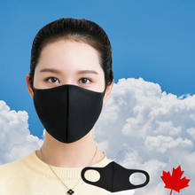 Load image into Gallery viewer, Black Breathable Lightweight Face Mask (Set of 2)