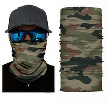 Load image into Gallery viewer, Military Camo Bandanna Face Shield