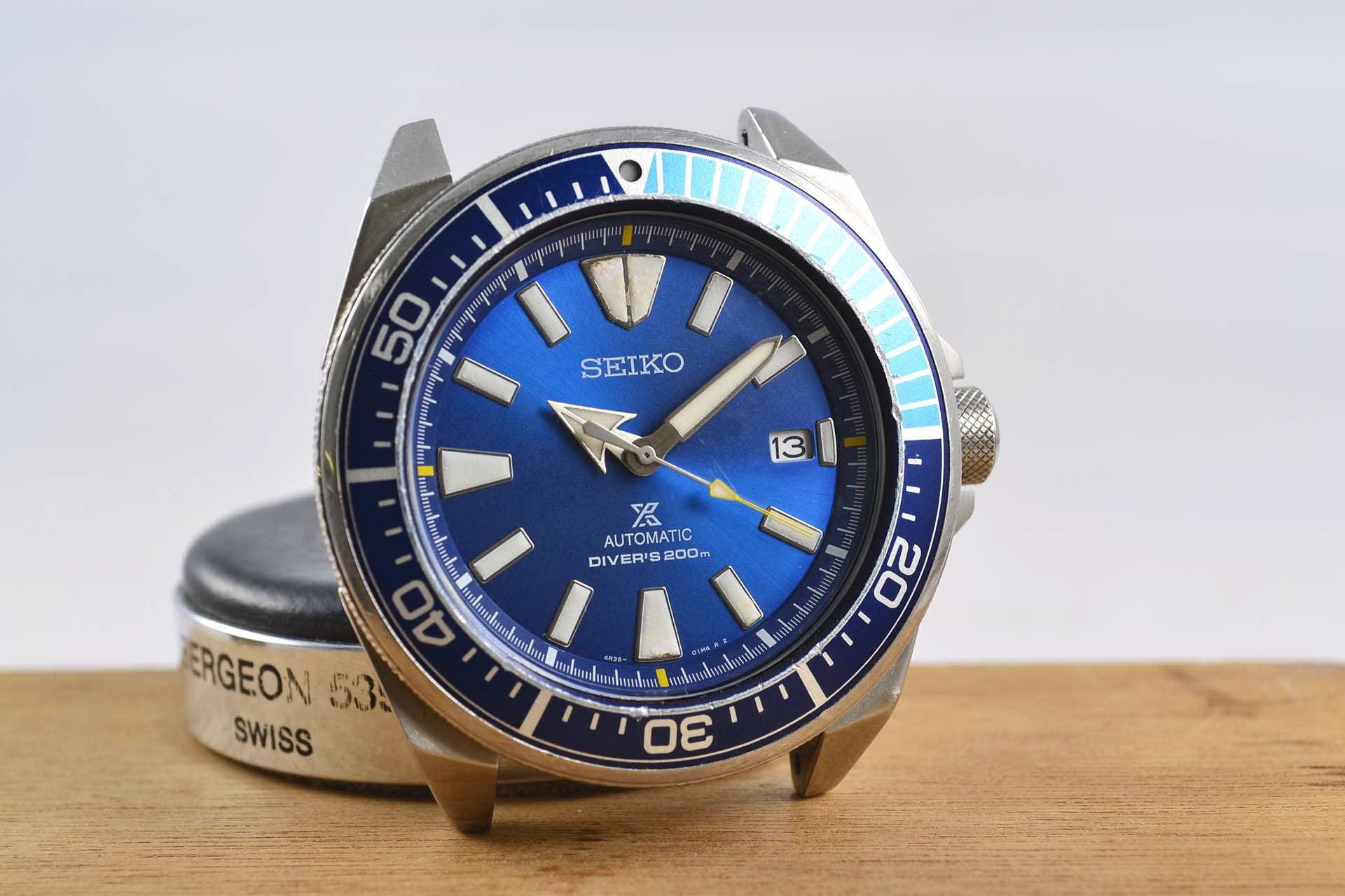 seiko samurai blue lagoon restauration