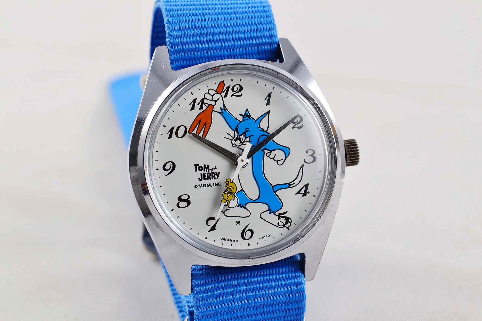 lumeville seiko tom jerry mgm cartoon vintage watch
