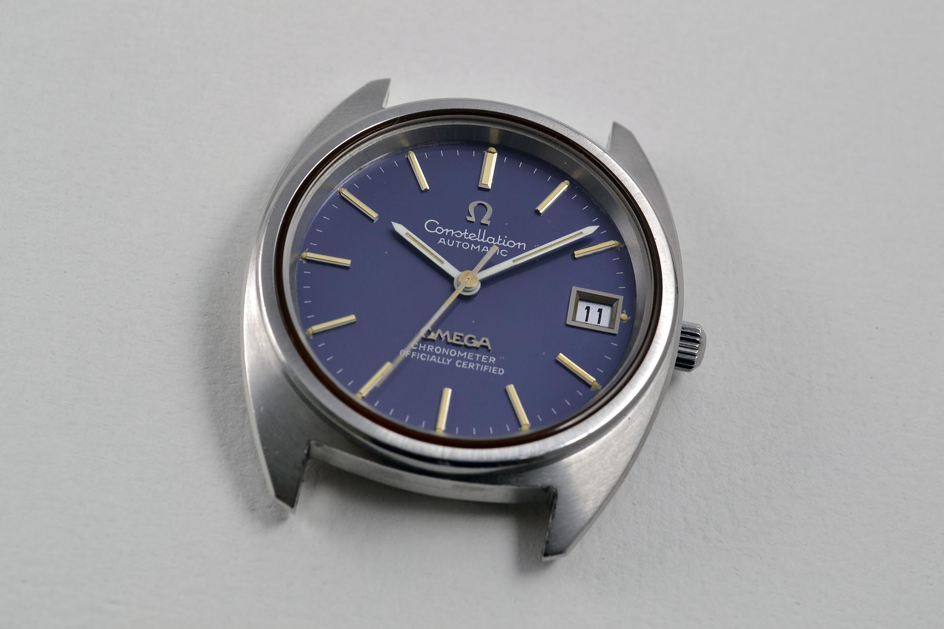 "Omega Constellation ""C"" Bleu 168.0056 calibre 1011 : Rhabillage"