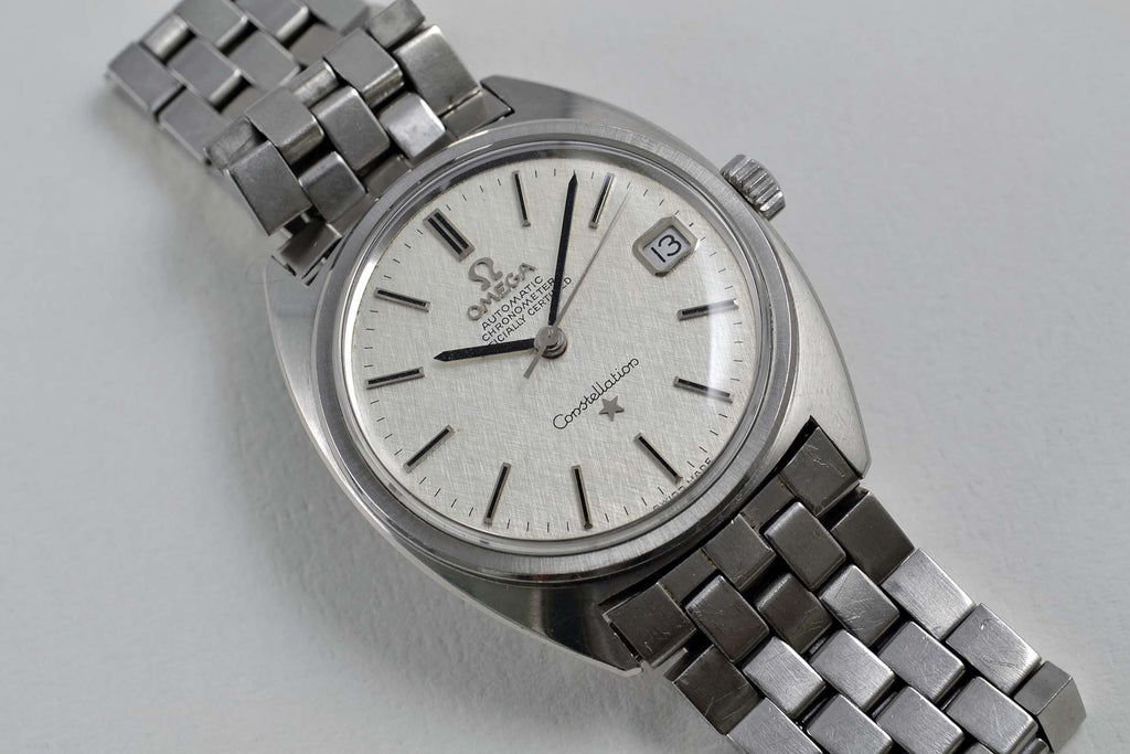 "Omega Constellation ""C"" 168.017 Linen Dial late 1960 - LumeVille"