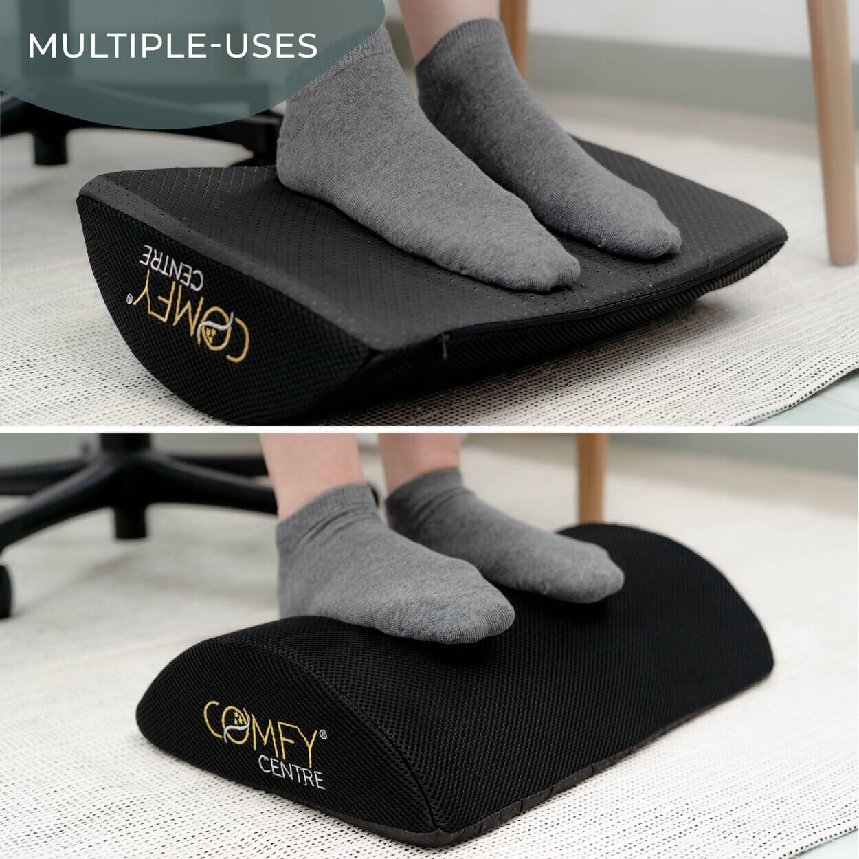 Foot Pillow - Ergonomic Foot Support for Home or Office