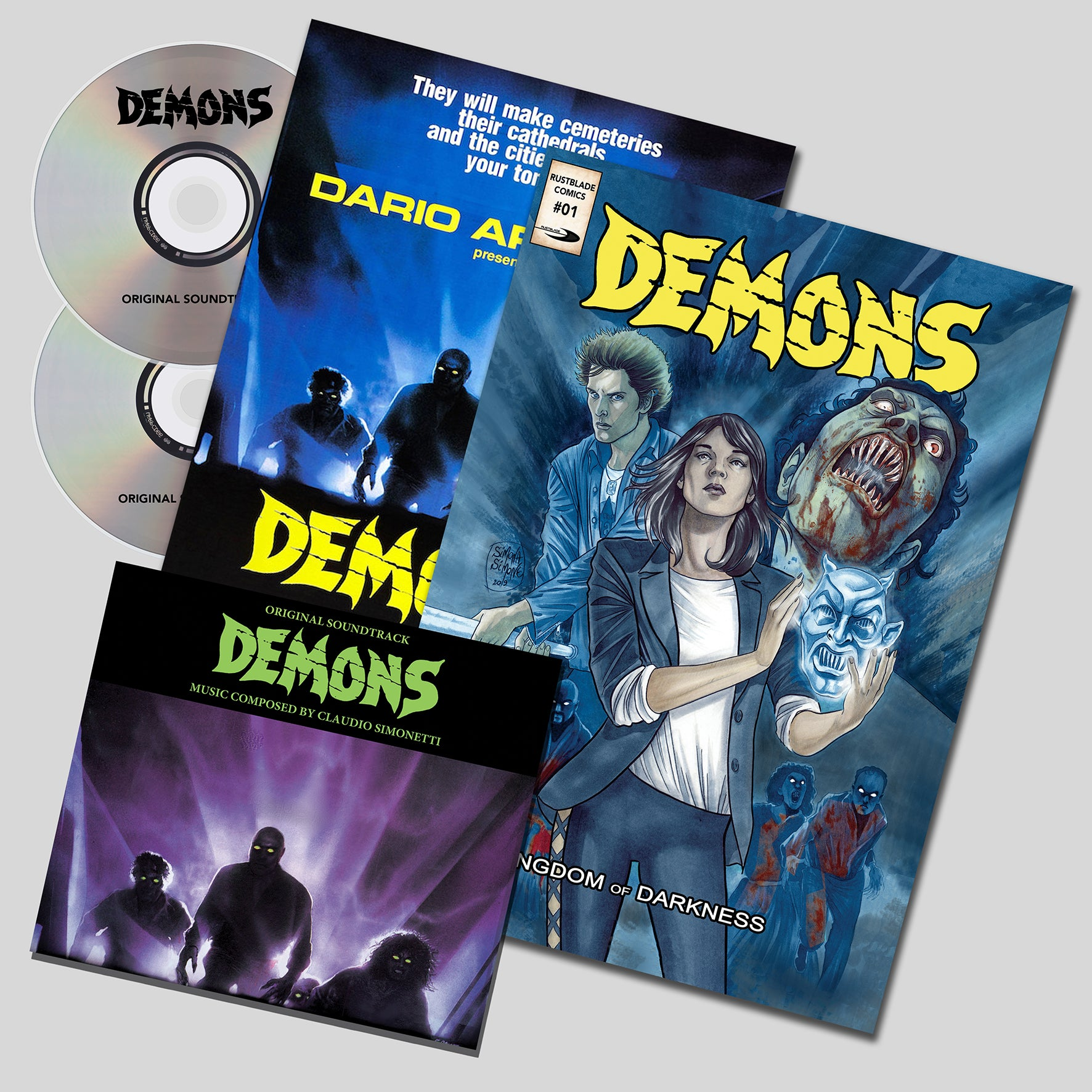 Demons - Original Score - (Purple Vinyl) - Limited 666 Copies - Claudio Simonetti