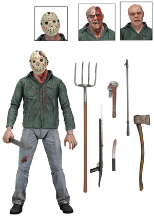 "Friday The 13th Part 3 Jason Vorhees - 7"" Scale Figure + Accessories  - NECA"