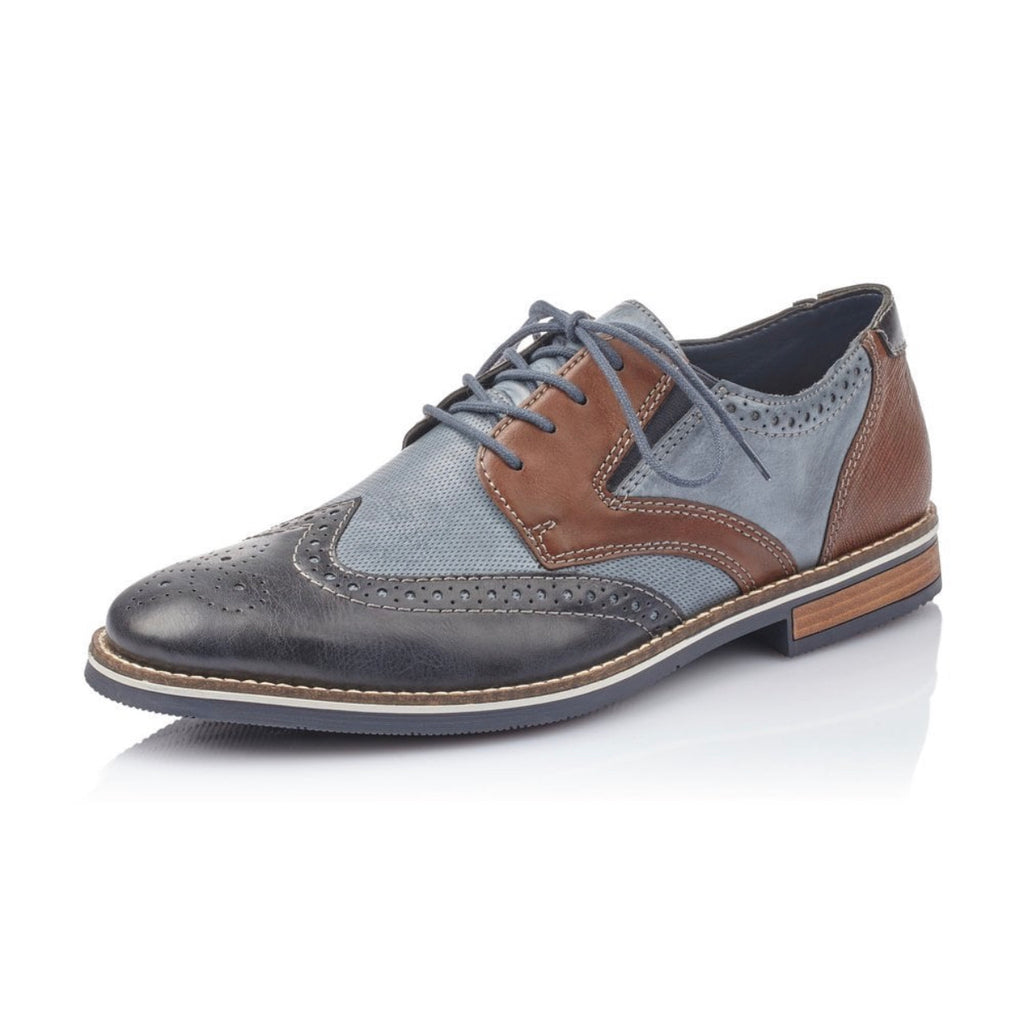 Rieker - Blue Combination Lace Brogue