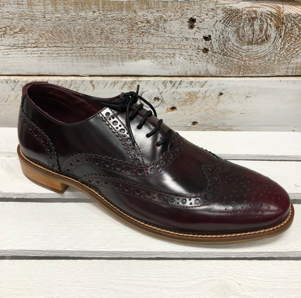 London Brogues - Bordeaux Leather Brogue