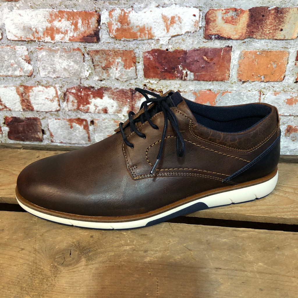 Escape - 'Snipe' Burnt Auburn Leather Shoe