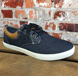 Tommy Bowe - Mens Denim Casual Trainer
