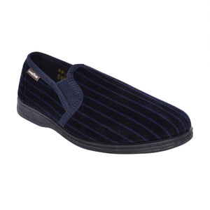 GoodYear - Don Navy Striped Mens Slipper