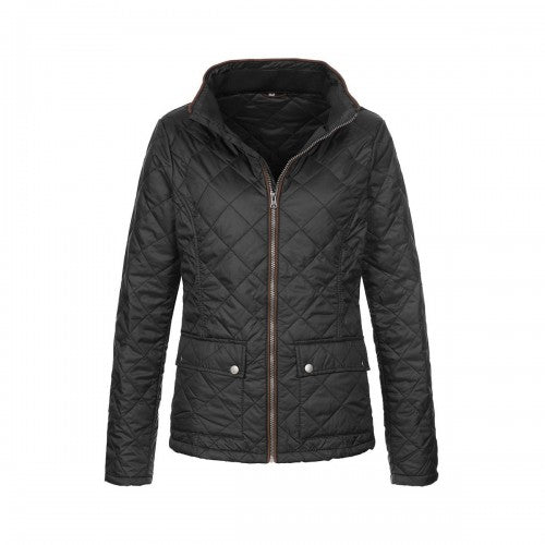 Front - Stedman Womens/Ladies Active Quilted Jacket