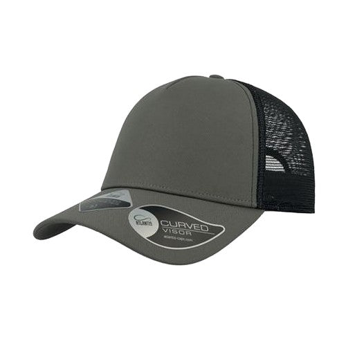 Front - Atlantis Unisex Rapper Recycled Polyester 5 Panel Trucker Cap