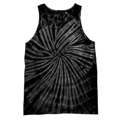 Front - Colortone Womens/Ladies Sleeveless Tie-Dye Tank Top