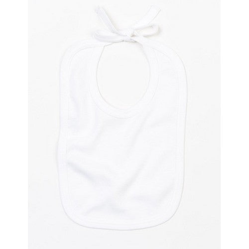 Organic White - Front - Babybugz Unisex Baby Contrast Color Bib With Ties
