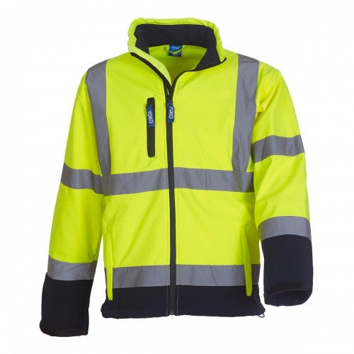 Front - Yoko Mens Hi-Vis Sofshell Jacket (Pack of 2)