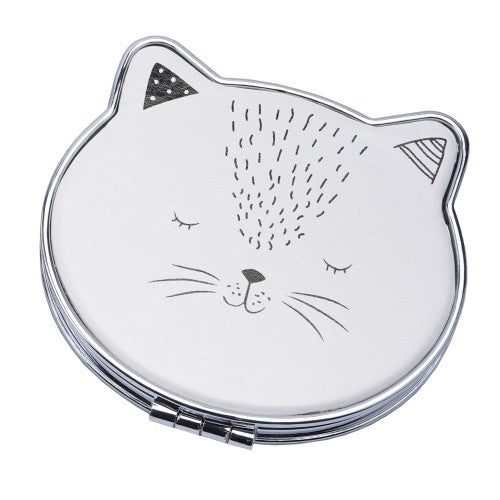 Front - Woofs & Whiskers Cat Compact Mirror