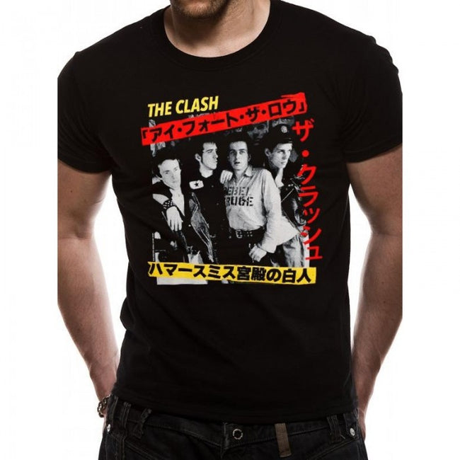 Front - The Clash Adults Unisex Kanji T-Shirt