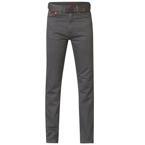 Front - Duke London Mens Brian Bedford Cord Trousers With Belt
