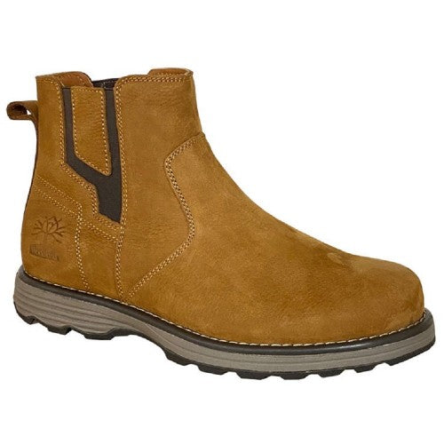 Front - Woodland Mens Leather Gusset Boots