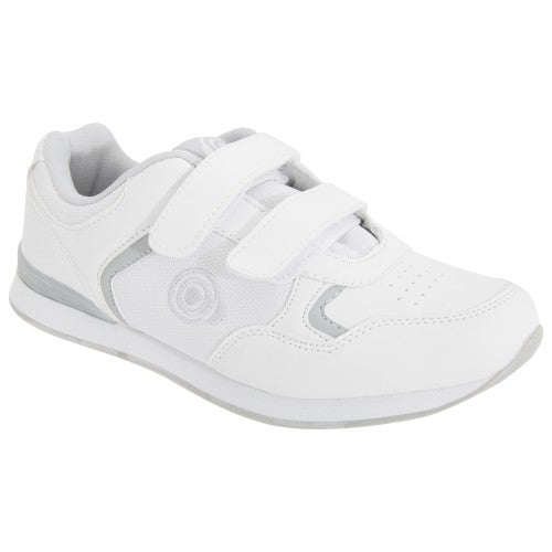 Front - Dek Womens/Ladies Lady Skipper Touch Fastening Trainer-Style Bowling Shoes