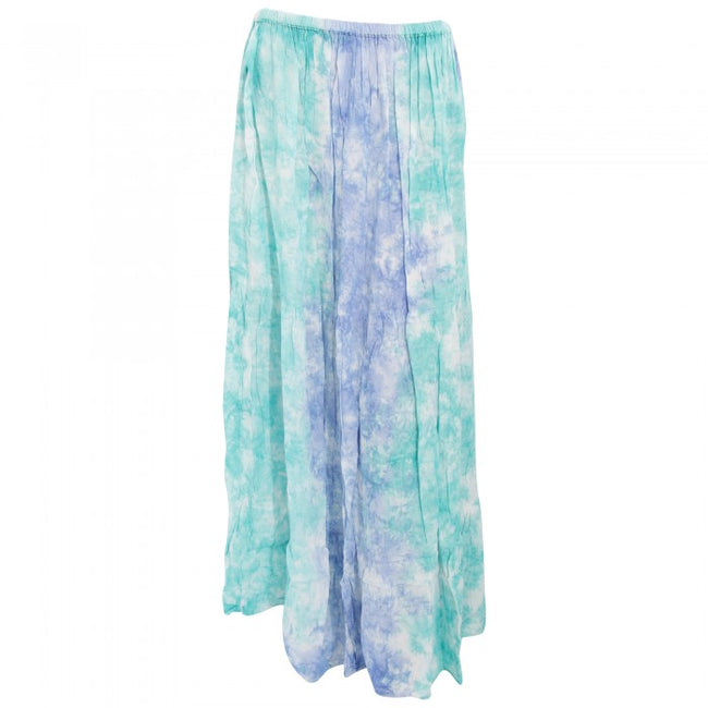Front - Womens/Ladies Maxi Pastel Tie Dye Summer Skirt