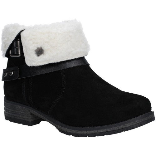 Front - Fleet & Foster Womens/Ladies Leather Soda Ankle Boots