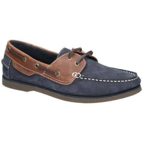 Front - Hush Puppies Mens Henry Lace Up Boat Shoes