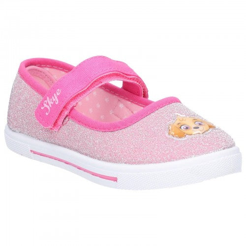 Front - Leomil Girls Paw Patrol Touch Fastening Shoe