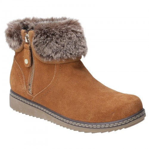 Front - Hush Puppies Womens/Ladies Penny Zip Ankle Boot