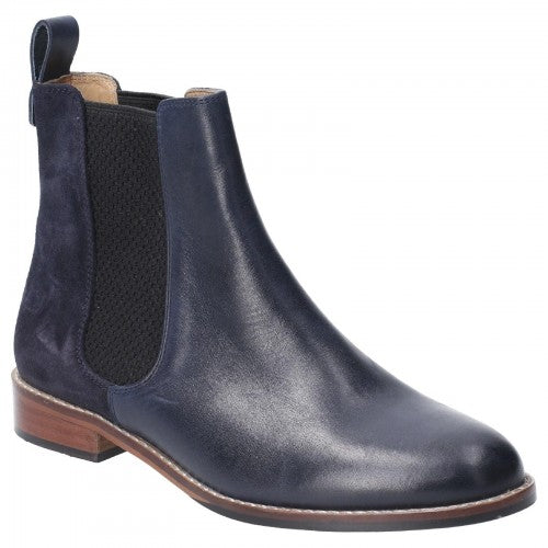 Front - Hush Puppies Womens/Ladies Chloe Slip On Leather Ankle Boot