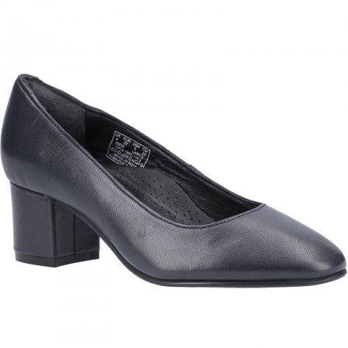 Front - Hush Puppies Ladies/Womens Anna Leather Court Shoe