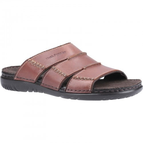 Front - Hush Puppies Mens Cameron Leather Mule Sandal