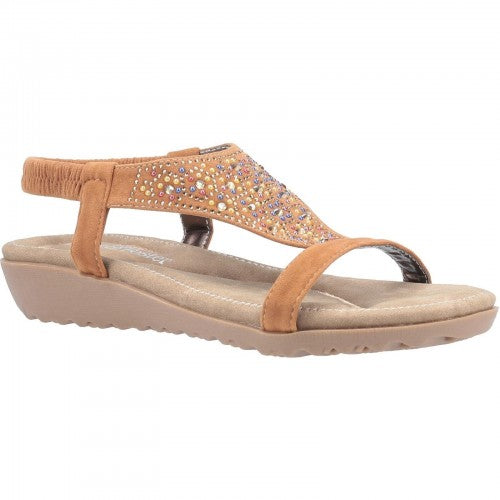 Front - Fleet & Foster Womens/Ladies Nicosia Slingback Sandal
