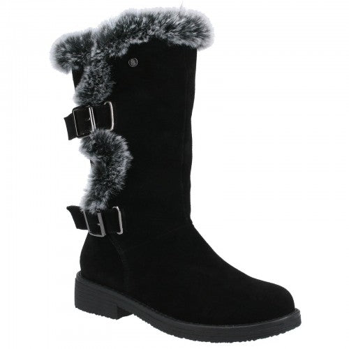 Front - Hush Puppies Womens/Ladies Megan Suede Boots