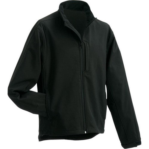Front - James and Nicholson Mens Waterproof Softshell Jacket