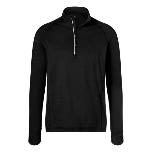 Front - James and Nicholson Mens Half Zip Sports Top