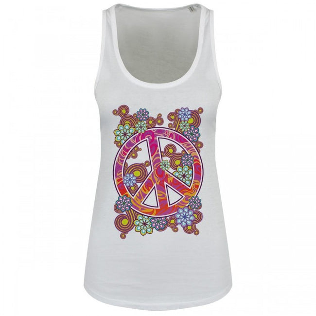 Front - Grindstore Psychedelic Peace Ladies Floaty Tank