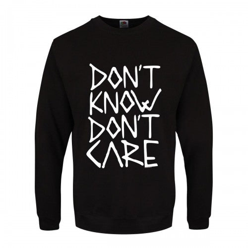 Front - Grindstore Mens Don`t Know Don`t Care Sweater
