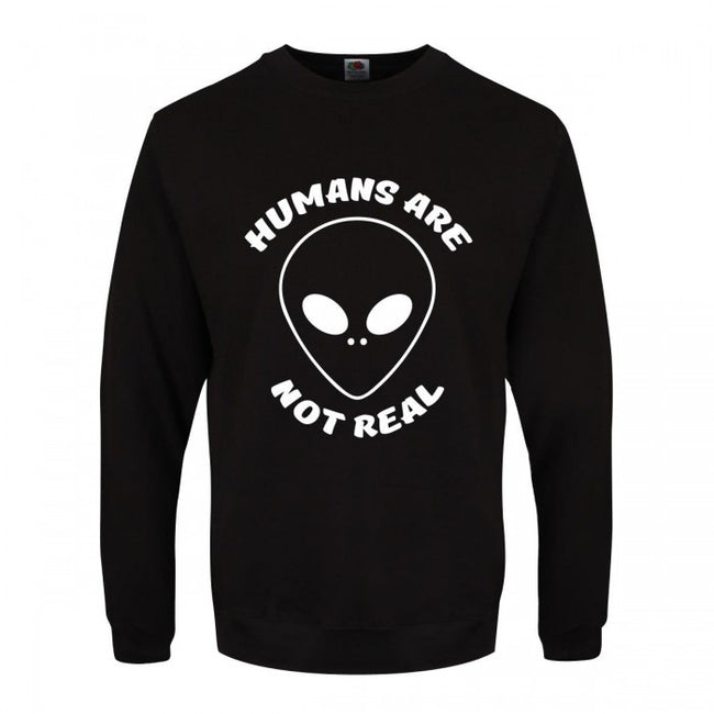 Front - Grindstore Mens Humans Are Not Real Sweater