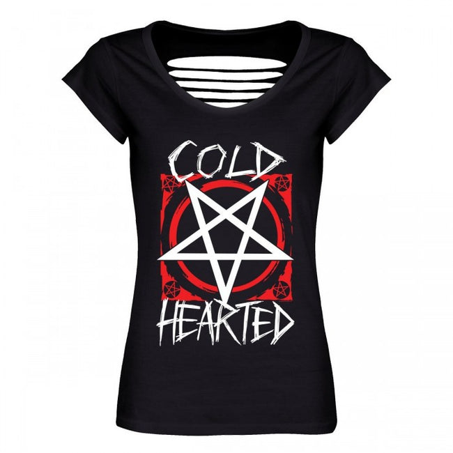 Front - Grindstore Cold Hearted Ladies Razor Back T-Shirt