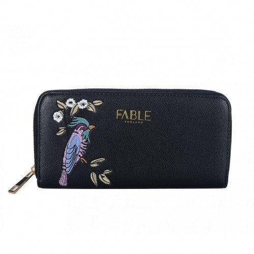 Front - Fable Womens/Ladies Bird Embroidered Large Purse