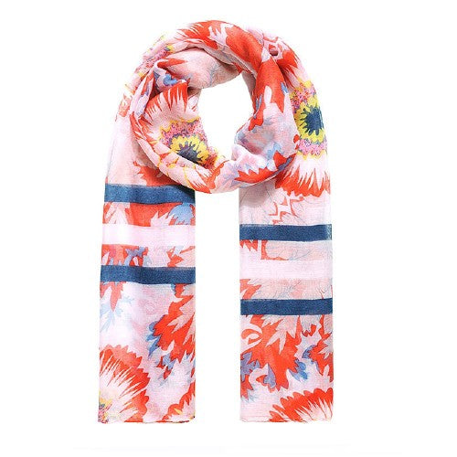 Front - Jewelcity Womens/ladies Morning Glory Sunflower Print Scarf