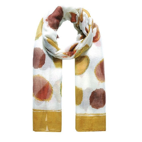 Front - Jewelcity Womens/Ladies Abstract Spot And Hearts Scarf