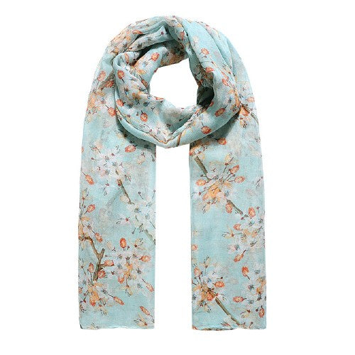 Front - Jewelcity Womens/Ladies Cherry Blossom Print Scarf