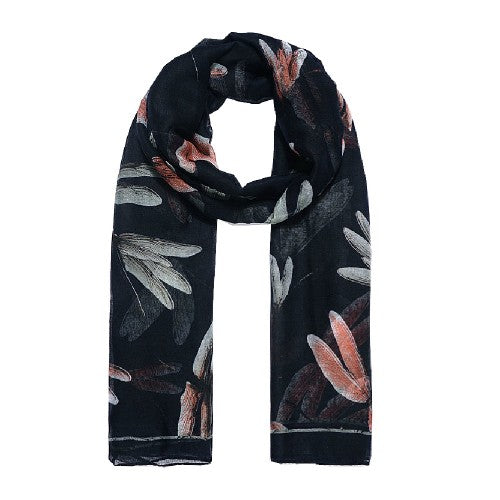 Front - Jewelcity Womens/Ladies Large Dragonfly Print Scarf
