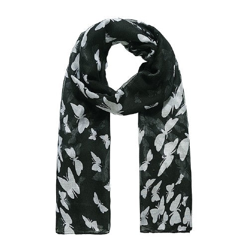 Front - Jewelcity Womens/Ladies Butterfly Print Scarf