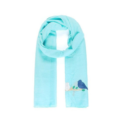 Front - Intrigue Womens/Ladies Embroidered Bird Narrow Scarf