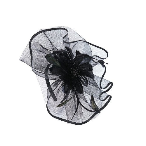 Front - Intrigue Womens/Ladies Large Feather Flower Fascinator