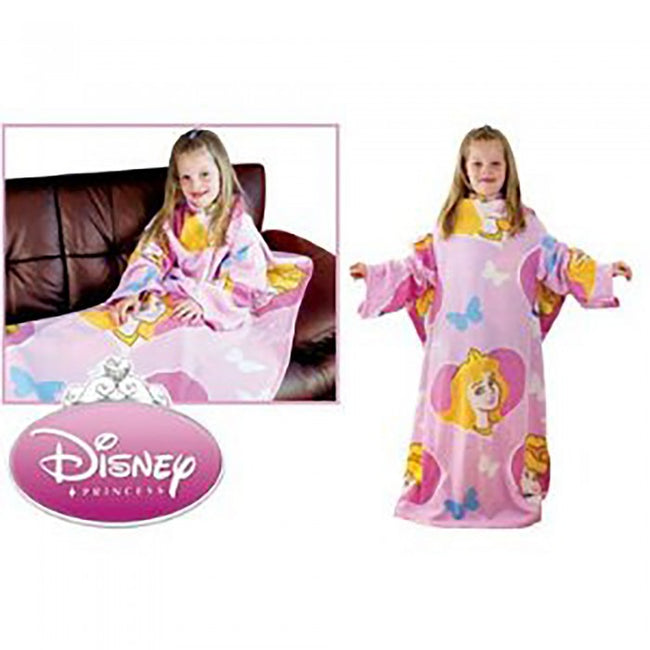 Front - Childrens/Kids Girls Disney Princess Sleeved Fleece Snuggle Blanket