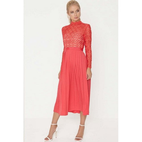 Front - Little Mistress Womens/Ladies 2 In 1 Pleated Maxi Dress